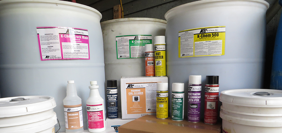 """K-Chem, Inc. has a well-developed line of environmentally preferred, Haps Free, SOLVENTS, in bulk and aerosol."""